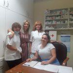Stručno osoblje doma sa glavnom sestrom i ravnateljicom, suradnja sa dr. Klajić Grotić